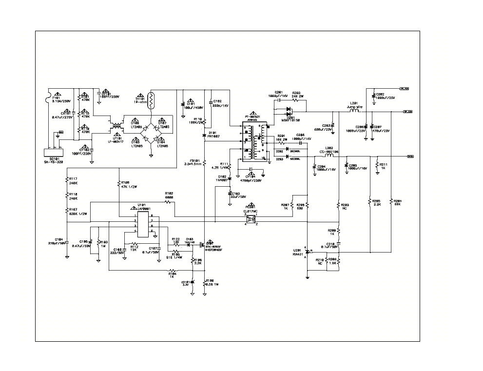 lg usp490m 42lp pdp42v6 plasma tv power supply schematic. Black Bedroom Furniture Sets. Home Design Ideas