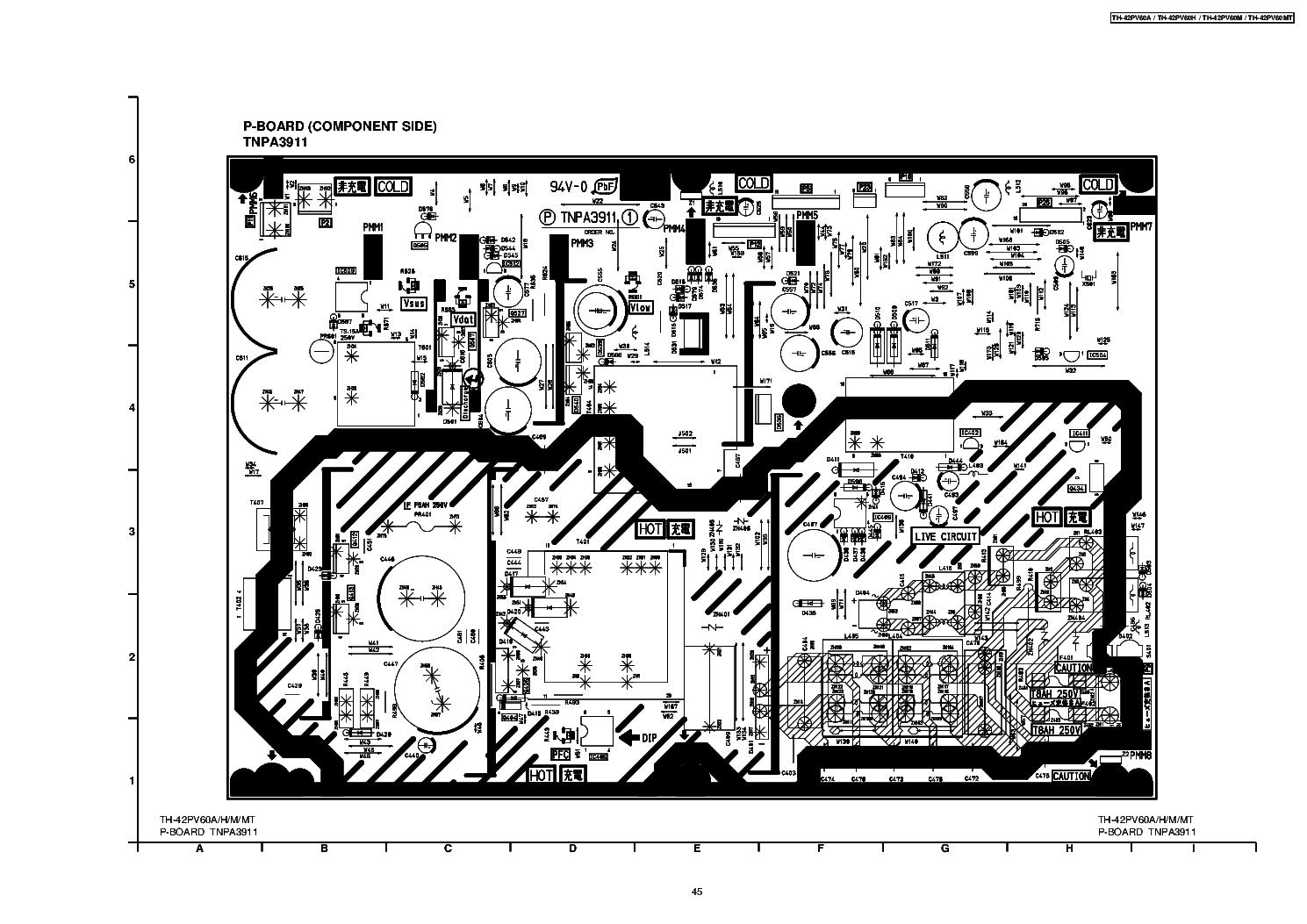 panasonic tnpa3911 1 dkpsu2av0 p-board sch service manual ... power supply schematic #14