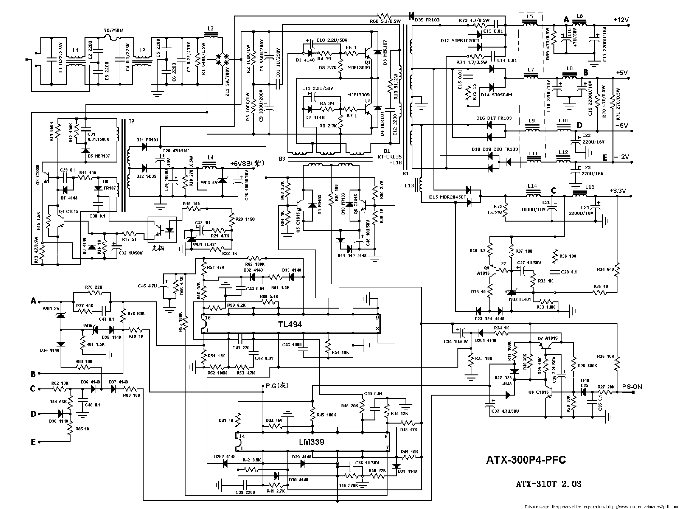 Pc Atx Power Supply Schematic Pdf - WIRE Center •