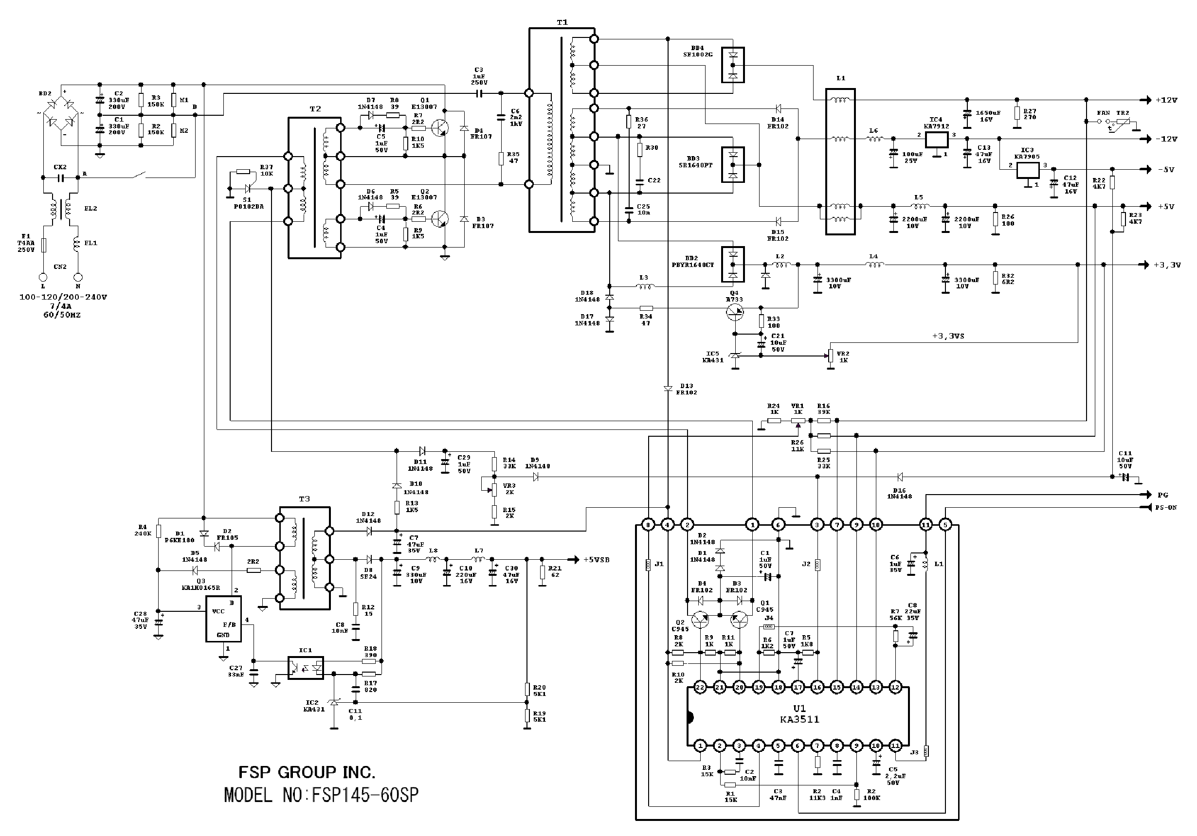 ATX Power Supply Schematic http://elektrotanya.com/fsp145-60sp_atx_power-supply_sch.pdf/download.html