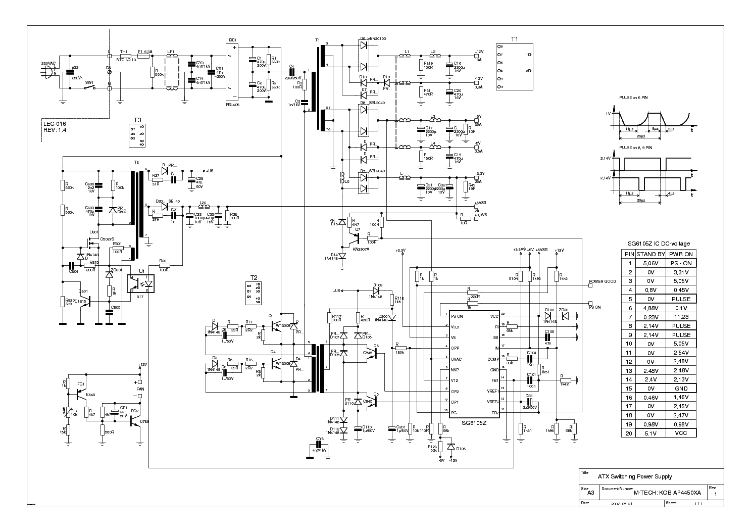 ATX Power Supply Schematic http://elektrotanya.com/m-tech_kob-ap4450xa_atx-power-supply_450w_sch.pdf/download.html