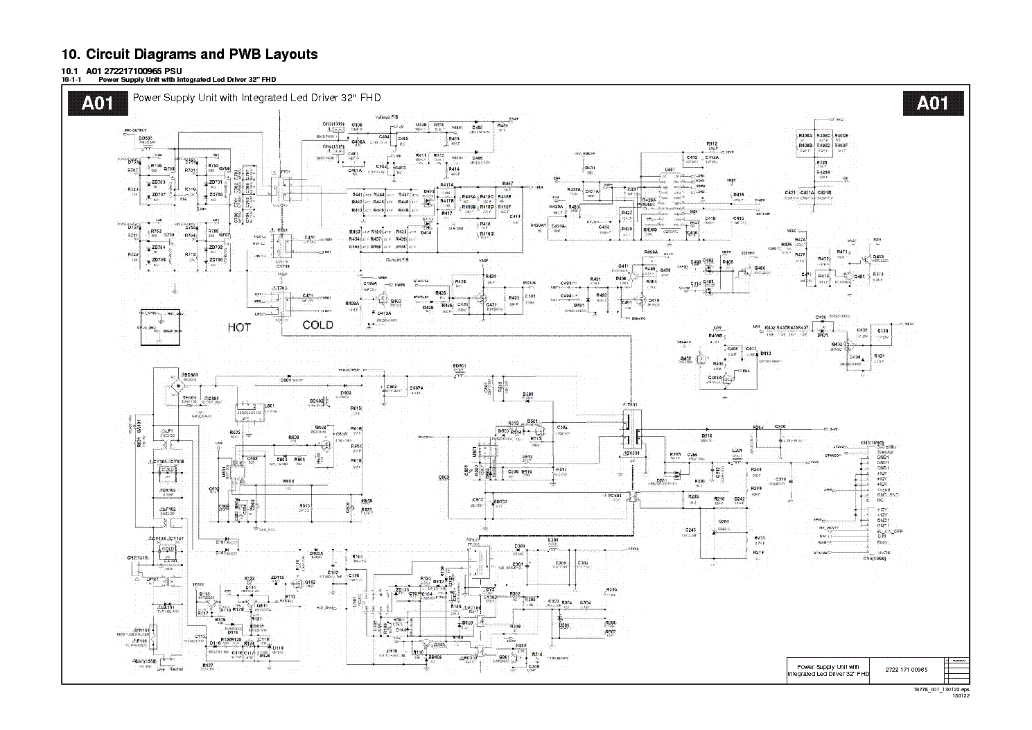 Philips Plhc P981a Psu Sch Service Manual Download Schematics Phillips Drivers Wiring Diagram Led 1st Page