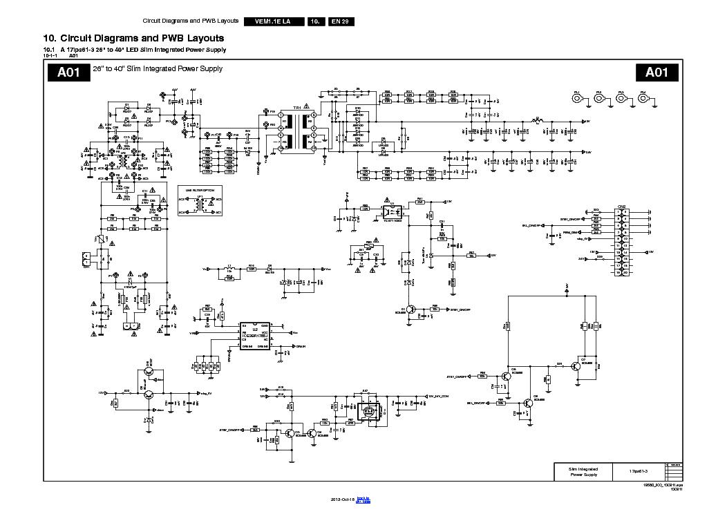 Vestel 17ips61 3 Led Slim Integrated Power Supply Service
