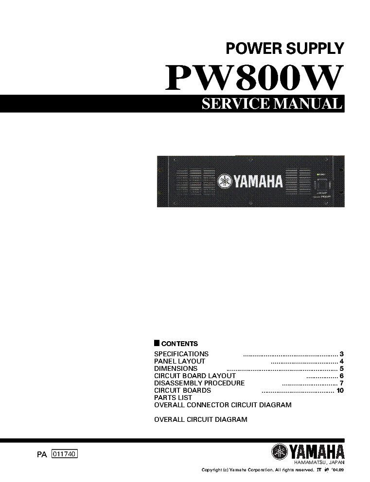 yamaha pw800w power supply service manual download schematics rh elektrotanya com powershift repair manual repair manual 6.0 powerstroke