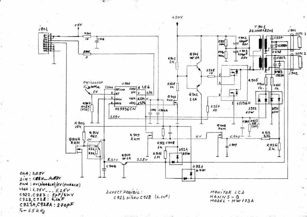 принципиальная схема монитора samatron 76pf ph17ktbu/edc chassis dp85